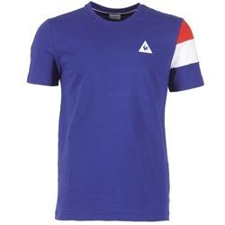 Clothing Men short-sleeved t-shirts Le Coq Sportif BLUREA Blue