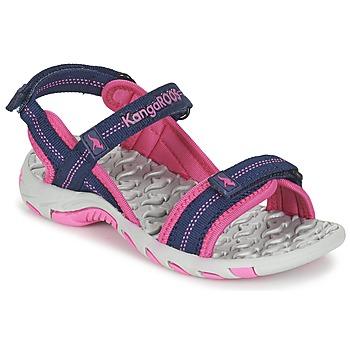 Shoes Girl Outdoor sandals Kangaroos MUSER MARINE / Pink