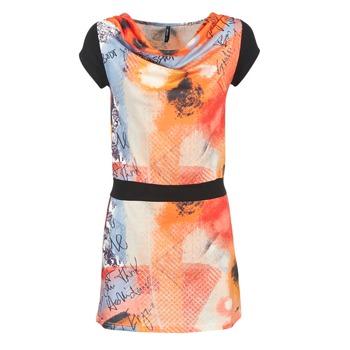 Clothing Women Short Dresses Smash CITRON Orange / Black