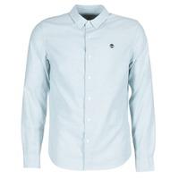 Clothing Men long-sleeved shirts Timberland LS RATTLE RIVER OXFORD SHIRT SLIM Blue