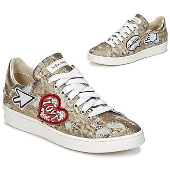 Shoes Women Low top trainers Meline QOLI GOLD