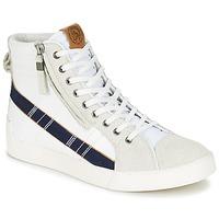 Shoes Men Hi top trainers Diesel D-STRING PLUS White / Blue