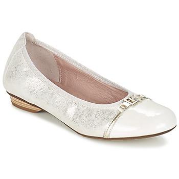 Shoes Women Flat shoes Dorking TELMA Silver / BEIGE