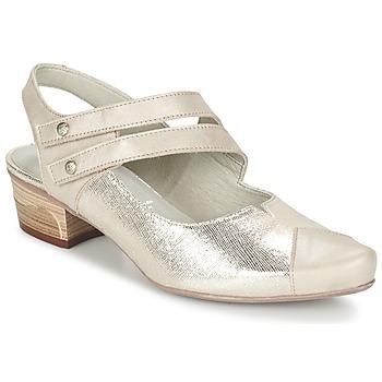 Shoes Women Heels Dorking MENET Silver / Grey