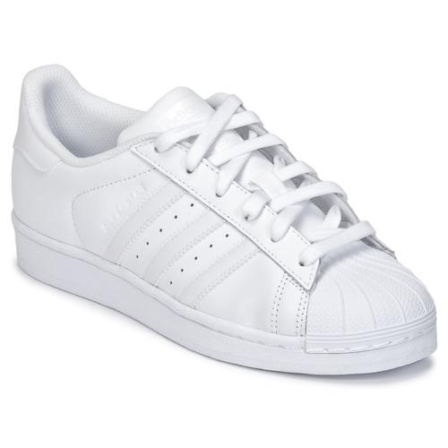 Shoes Children Low top trainers adidas Originals SUPERSTAR White