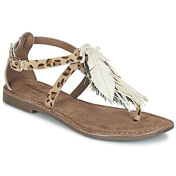 Shoes Women Sandals Metamorf'Ose ZABOUCHE Brown / White