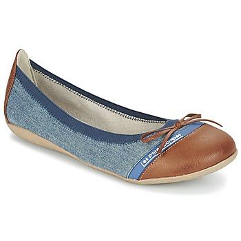 Shoes Women Flat shoes Les P'tites Bombes CAPRICE Blue / CAMEL