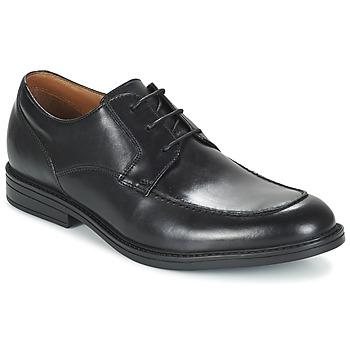 Shoes Men Derby Shoes Clarks BECKFIELDAPRON Black