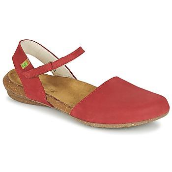 Shoes Women Sandals El Naturalista WAKATAUA Red