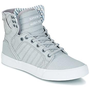 Shoes Hi top trainers Supra SKYTOP Grey