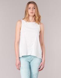 Clothing Women Tops / Sleeveless T-shirts Desigual ROMINESSA White