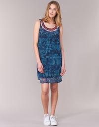 Clothing Women Short Dresses Desigual LIORISE Blue