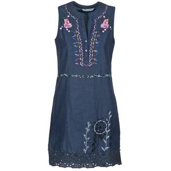 Clothing Women Short Dresses Desigual LIRASE Blue