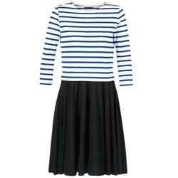 Clothing Women Short Dresses Petit Bateau FINALLY White / Blue