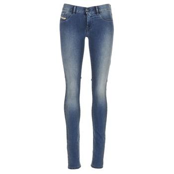 Clothing Women slim jeans Diesel LIVIER Blue / 0679e