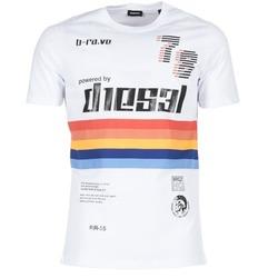 Clothing Men short-sleeved t-shirts Diesel T JOE OB White