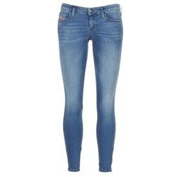 Clothing Women Skinny jeans Diesel SKINZEE LOW ZIP Blue / 0681p
