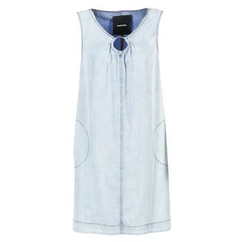 Clothing Women Short Dresses Diesel DE ISBEC Blue