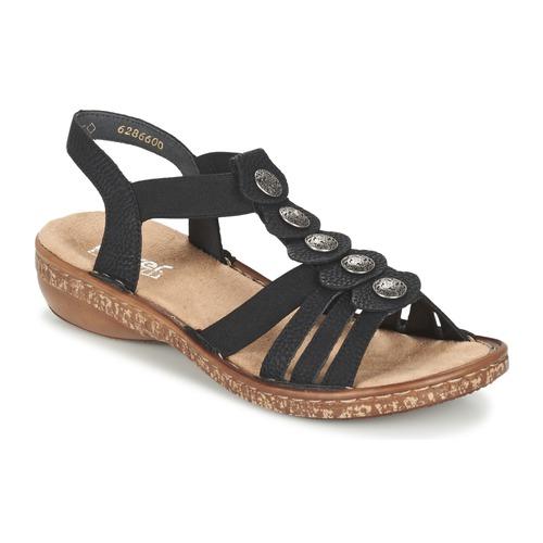 Shoes Women Sandals Rieker MECHAROLO Black
