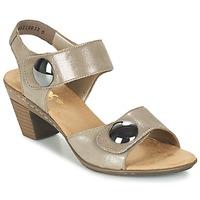 Shoes Women Sandals Rieker GERITEDO Grey