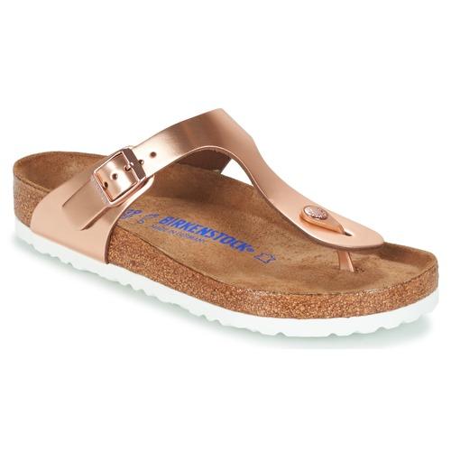 Shoes Women Flip flops Birkenstock GIZEH SFB Bronze
