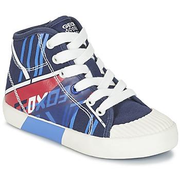 Shoes Boy Hi top trainers Geox J KIWI B. E MARINE