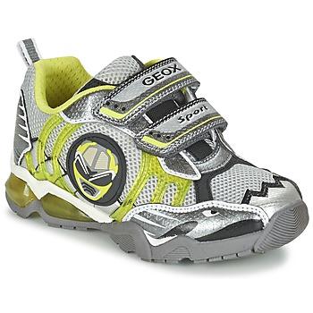 Shoes Boy Low top trainers Geox J SHUTTLE B. B Grey / Citron