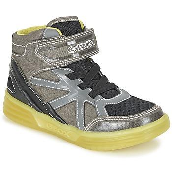 Shoes Boy Hi top trainers Geox J ARGONAT B. B Grey / Citron