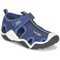 Shoes Boy Outdoor sandals Geox J WADER C MARINE