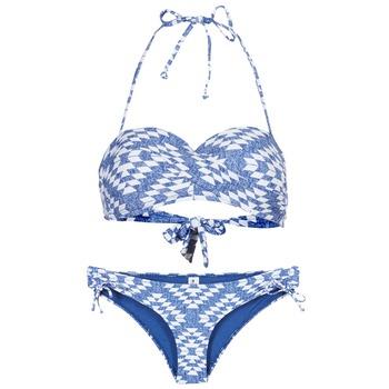 Clothing Women Bikinis Rip Curl DEL SOL BANDEAU SET Blue / White