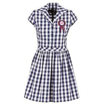 Clothing Women Short Dresses Love Moschino WVF3001 Blue / White