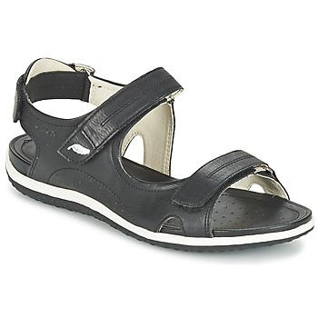 Shoes Women Outdoor sandals Geox D SAND.VEGA A Black