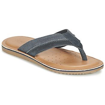 Shoes Men Flip flops Geox U ARTIE B Marine