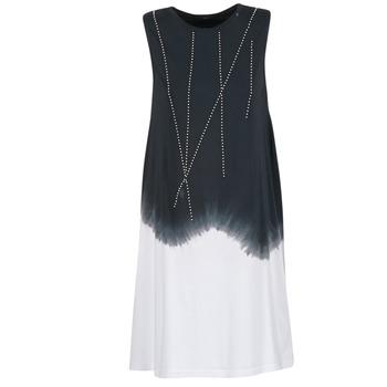 Clothing Women Short Dresses Replay WOOPINA Black / White