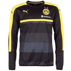 Clothing Men sweatpants Puma BVB TRAINING SWEAT Black / Yellow