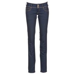Clothing Women straight jeans Le Temps des Cerises 220 Blue / Raw