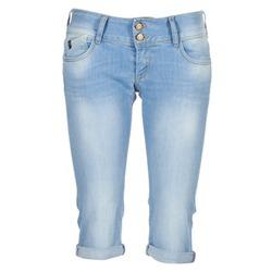 Clothing Women 3/4 & 7/8 jeans Le Temps des Cerises CHRISTIA Blue / Clear