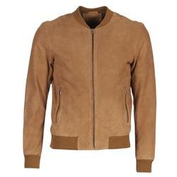 Clothing Men Leather jackets / Imitation leather Selected MARK CAMEL