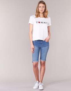 Clothing Women Shorts / Bermudas Tommy Hilfiger VENICE RW BERMUDA ELOISE Blue