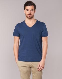 Clothing Men short-sleeved t-shirts Tommy Hilfiger HTR END ON END Marine