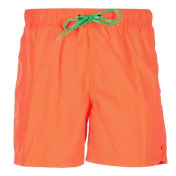Clothing Men Trunks / Swim shorts Tommy Hilfiger SOLID SWIM TRUNK Orange