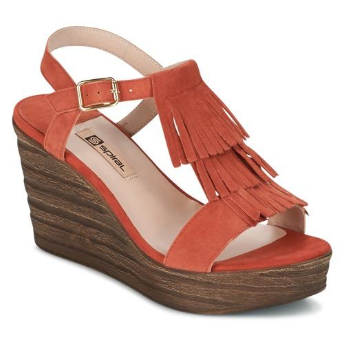 Shoes Women Sandals Spiral CARLA Orange