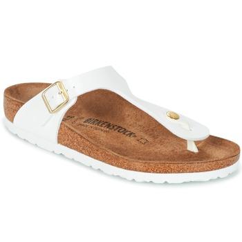 Shoes Women Flip flops Birkenstock GIZEH White / Gold