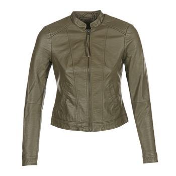 Clothing Women Leather jackets / Imitation leather Vero Moda QUEEN Kaki
