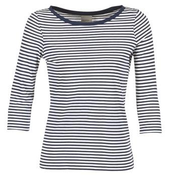 Clothing Women Long sleeved tee-shirts Vero Moda MARLEY Marine / White