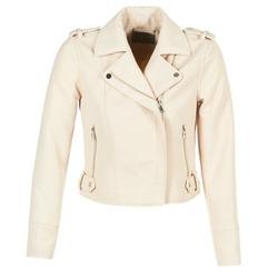 Clothing Women Leather jackets / Imitation leather Vero Moda SOFIA Beige