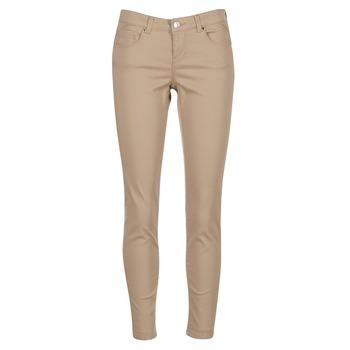 Clothing Women 5-pocket trousers Vero Moda BUENO Beige