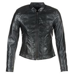 Clothing Women Leather jackets / Imitation leather Vero Moda QUEEN Black