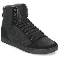 Shoes Hi top trainers Hummel TEN STAR MONO OILED IG  BLACK /  BLACK
