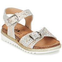 Shoes Girl Sandals Citrouille et Compagnie GUAFRETTE Gold / White
